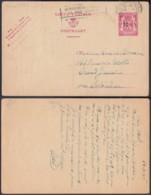 Belgique 1946- Entier Postal Sur  Carte Postale De Brusselles Vers Château De Grand-Jamine - 75 Cts- 10%. (DD) DC-7510 - Postwaardestukken