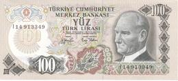 BILLETE DE TURQUIA DE 100 LIRAS DEL AÑO 1970 SIN CIRCULAR (UNCIRCULATED) (BANK NOTE) - Turkije