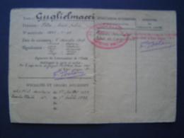 MILITARIA 1939 : MARINE / EXTRAIT LIVRET MATRICULE / Cachet PREFECTURE MARITIME à BIZERTE ( TUNISIE ) - 1939-45