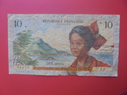 GUYANE FRANCAISE 10 FRANCS ND (1964) SIGNATURE N°2 CIRCULER(B.12) - Frans-Guyana