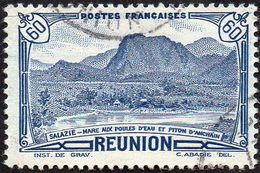 Réunion Obl. N° 247 - Vue -> Salazie, Mare Aux Poules D'eau Et Piton D'Auchain 60c Bleu - Réunion (1852-1975)