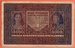 POLOGNE - 5.000 Marek Du 07 02 1920 - Pick 31 - Pologne