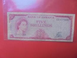JAMAIQUE 5 SHILLINGS 1960-61 CIRCULER(B.12) - Jamaique