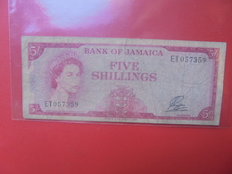 JAMAIQUE 5 SHILLINGS 1960-61 CIRCULER(B.12) - Jamaica