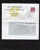 LSC 1967 - Entête CAVE DES VIGNERONS De RASTEAU & Cachet Perlé RASTEAU (Vaucluse) - 1961-....