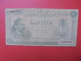 LIBYE 10 PIASTRES 1952 CIRCULER (B.12) - Libia