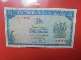 RHODESIE 1$ 1974 CIRCULER (B.12) - Rhodesien
