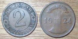 N°394 2 RENTENPFENNIG 1924J - [ 3] 1918-1933 : República De Weimar