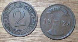 N°395 2 RENTENPFENNIG 1924J - [ 3] 1918-1933 : República De Weimar