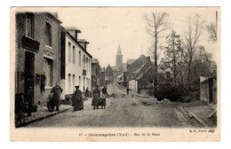 CPA Gommegnies Nord 59 Rue De La Gare Bourrelier Au 1 Er Plan Animée éditeur BF N°17 - France