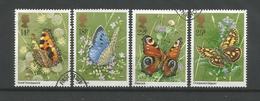Gr. Britain 1981 Butterflies Y.T. 992/995 (0) - 1952-.... (Elisabetta II)