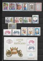 VATICAN - ANNEE 1985  ** - 16 VALEURS + 1 BLOC - COTE = 39.25 EUR. - Full Years