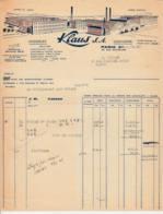 FRANCE - 1948 - Facture - Chocolats KLAUS SA - Usines Morteau - Alimentaire