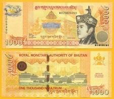Bhutan 1000 Ngultrum P-36 2016 Commemorative UNC Banknote - Bhutan