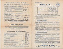 FRANCE - 1920 - Tarifs - Rubans C & B - Machines à écrire - Frankreich