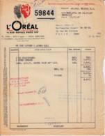 FRANCE - 1947 - Facture L'OREAL - Droguerie & Parfumerie