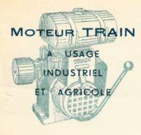 FRANCE - 1950 - Courrier Commerciale - Moteur Train à Usage Industriel Et Agricole - France