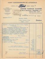 FRANCE - 1951 - Facture - FORD (réparation Vedette) - Strasbourg - Automobile