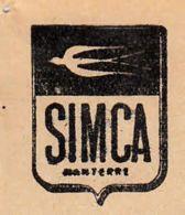FRANCE - 1942 - Facture - Société De Mécanique & Carosserie - Nanterre - SIMCA - Automobile