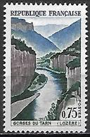 FRANCE   -  1965 .  Y&T N° 1438 **.   Gorges Du Tarn. - Neufs