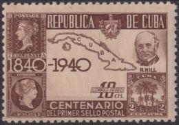 1940-301 CUBA REPUBLICA MNH 1940 ROWLAND HILL PENNY BLACK CENTENARIAL ENGLAND. - Cuba