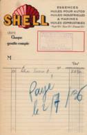 FRANCE - 1936 - Facture - SHELL - Essences, Huiles... - Automobil