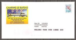 """FRANCE - PAP Entier Postal PREOBLITERE , Illustré """" Fleur Ancolie """" ( Y&T N° 253 ). - Ganzsachen"""