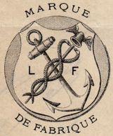 FRANCE - 1889 - Facture - Fabrique De Couleurs, Vernis & Encres D'imprimerie - LEFRANC & Cie - Caducée - Chemist's (drugstore) & Perfumery