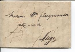 REF1105/ Precursor CWC Dated Ruremonde 1939 15 Crossed Out Port 5 > Liège Arrival Cancellation - Pays-Bas