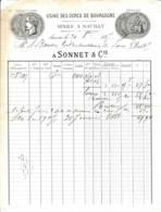 FRANCE - 1887 - Facture - Ocres De Bourgogne - Sauilly - Auxerre - Drogerie & Parfümerie