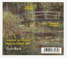 France Frankreich 2010 Yvert No. F4479 **, Michel Block 127 **, Salon Du Timbre, Gärten, Jardins De Giverny Claude Monet - Ungebraucht