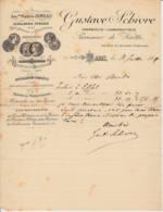 FRANCE - 1889 - Courrier -Produits Chimiques - Serrurerie Spéciale Pour Boulangers & Pârtissiers - SCHIVRE - Chemist's (drugstore) & Perfumery