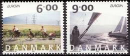 (!)  EUROPA CEPT De 2004  Thème Les Vacances  DANEMARK Y&T 1378/1379  Neuf(s) ** Mnh - 2004