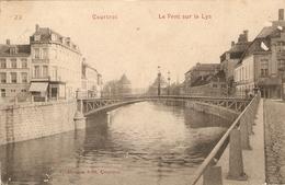 Courtrai / Kortrijk : Le Pont  Sur La Lys  1910 - Kortrijk