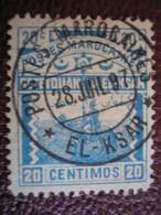 MAROC - Postes Locales - TETOUAN à EL KSAR EL KEBIR - N° 156 Y&T Oblitéré à EL KSAR En 1897 - Locals & Carriers