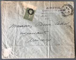 France N°130 (type V De Carnet) Sur Lettre 1918 - Cachet De Fortune - (W1042) - Marcophilie (Lettres)
