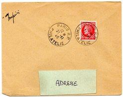 PARIS RP 1946 = CACHET PETIT FORMAT A4  Sur ENVELOPPE Entière - Marcophilie (Lettres)