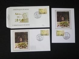 """BELG.1996 2664  FDC & MCard Zijde/soie & FDC : """" Armonaque Dé Mons """" - 1991-00"""