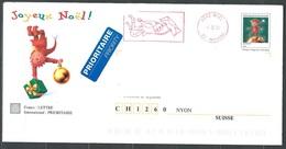 FZ-/-019. P.A.P.  REELLEMENT CIRCULE POUR LA SUISSE, JOYEUX NOEL 2000, COMPLET,  Liquidation - Entiers Postaux