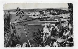 (RECTO / VERSO) NICE EN 1954 - N° 36 - VUE GENERALE PRISE DU MONT BORON - BEAU TIMBRE ET FLAMME - FORMAT CPA - Panoramic Views