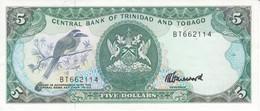 BILLETE DE TRINIDAD Y TOBAGO DE 5 DOLLARS CALIDAD EBC (XF) (BANKNOTE) - Trinidad & Tobago