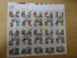 USA Michel 1532/81 KB Vögel Gestempelt (14365) - Blocs-feuillets