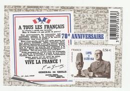 France Frankreich 2010 Yvert No. F4493 **, Michel Block 131**, Aufruf 18 Juin 1940, Juni - Neufs