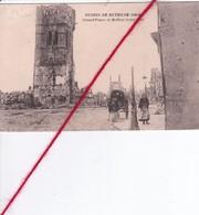 CP 62 - BETHUNE -  Ruines De BETHUNE  -   Grand'Place Et Beffroi - Bethune