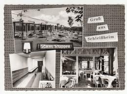 Gaststätte Zum Rappen Schleißheim Old Postcard Posted 1969 Chess Special Postmark B200501 - München