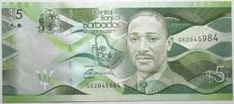 Barbades - 5 Dollars - 2013 - PICK 74a - NEUF - Barbados