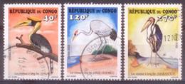 B105 Congo 2002 Birds Oiseaux 3v (part Set - Scarse ) Used Obl - Oiseaux