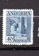 ANDORRE ESPAGNOL N°22A 40C BLEU SANTA COLOMA   NEUF AVEC CHARNIÈRE - Andorre Espagnol