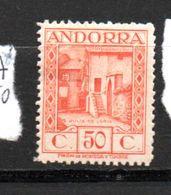 ANDORRE ESPAGNOL N°23A 50C ORANGE SAINTE JULIA DE LORIA   NEUF AVEC CHARNIÈRE - Andorre Espagnol