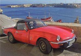 Triumph Spitfire Sports In Valetta, Malta   -  CPM - Voitures De Tourisme